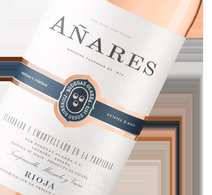 Silueta de la botella de Vino Añares Rosado de Bodegas Olarra