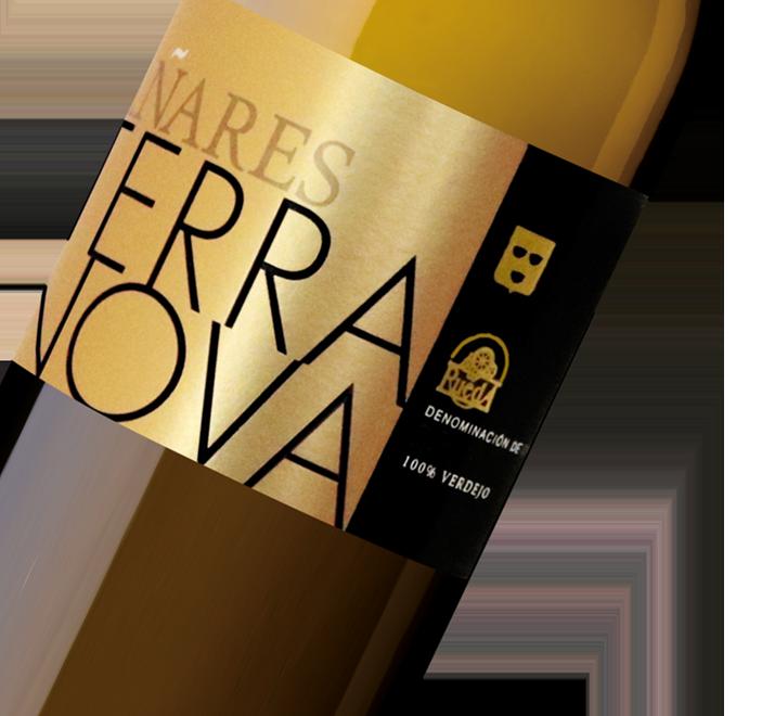 Silueta de la botella de Vino Blanco Añares Terranova de Bodegas Olarra