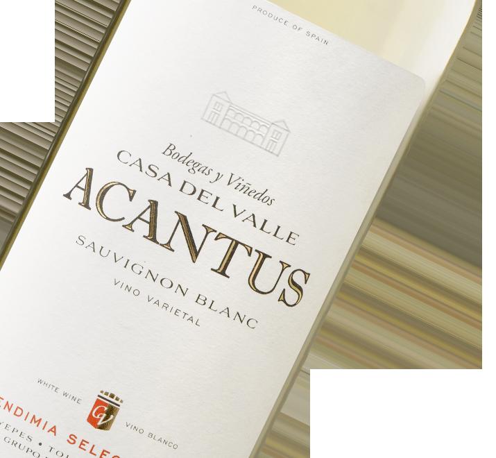 Etiqueta Vino Acantus Blanco