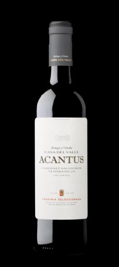 Silueta de la Botella de Acantus Tinto de Bodegas y Viñedos Casa del Valle