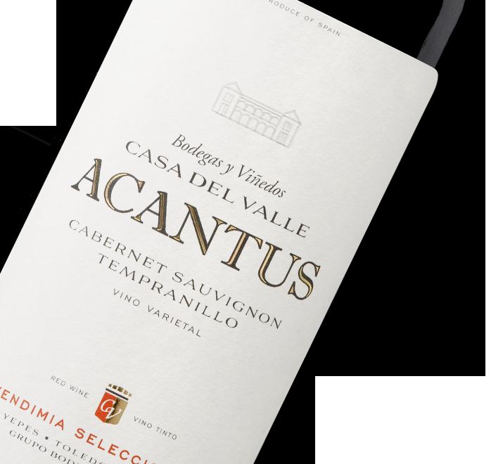 Etiqueta Vino Acantus Tinto