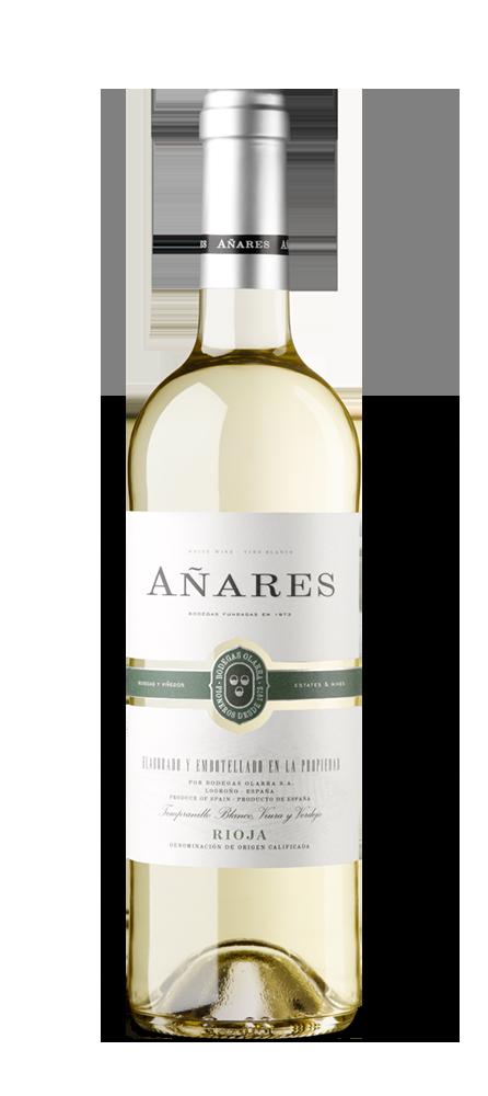Silueta de la botella de Añares Blanco de Bodegas Olarra