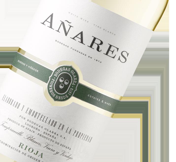 Silueta de la botella de Añares Blanco Rioja de Bodegas Olarra