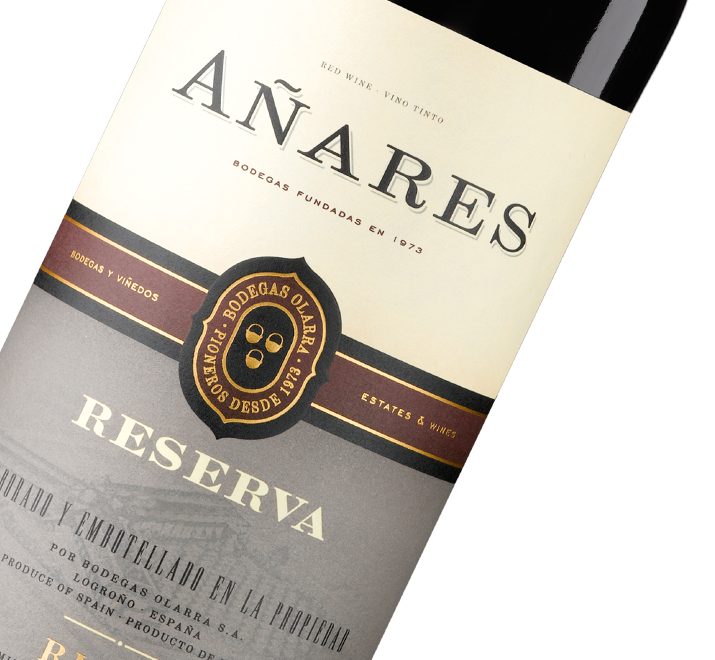 Silueta de botella Añares Reserva Rioja de Bodegas Olarra
