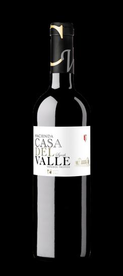 Silueta de Botella de Syrah de Bodegas y Viñedos Casa del Valle