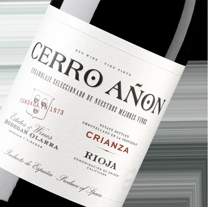 Silueta de la botella de Vino Tinto Cerro Añón Crianza de Bodegas Olarra