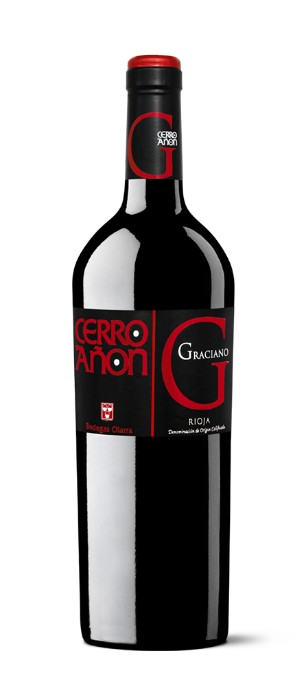 Silueta de la botella de Cerro Añón Graciano de Bodegas Olarra