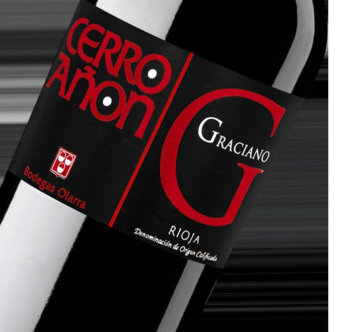 Silueta de la botella de Vino Tinto Cerro Añón Graciano de Bodegas Olarra