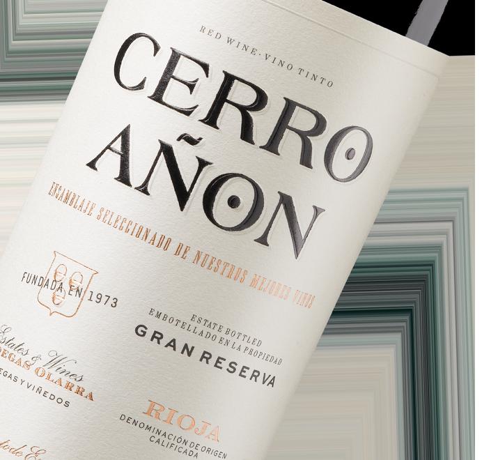Silueta de la botella de Vino Tinto Cerro Añón Gran Reserva de Bodegas Olarra