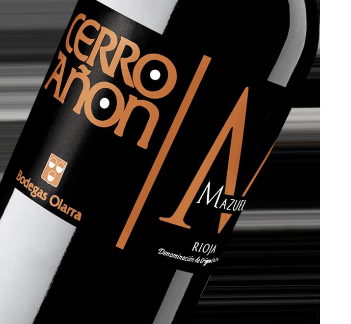 Silueta de la botella de Vino Tinto Cerro Añón Mazuelo de Bodegas Olarra