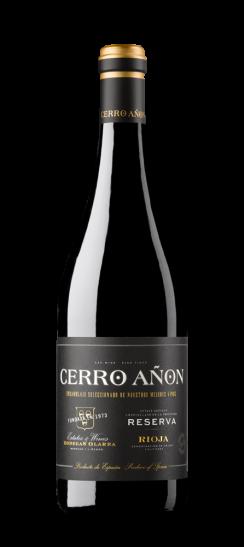 Silueta de la botella de Cerro Añón Reserva de Bodegas Olarra
