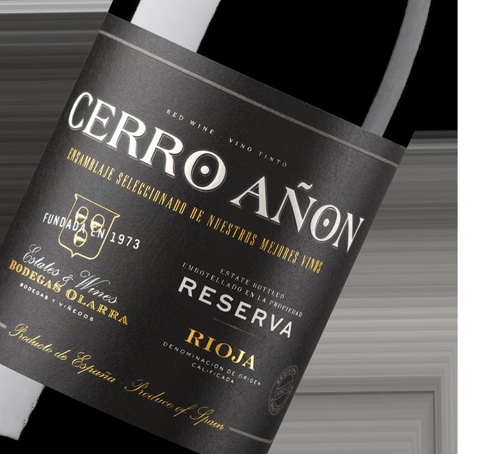 Silueta de la botella de Cerro Añón Reserva Rioja de Bodegas Olarra