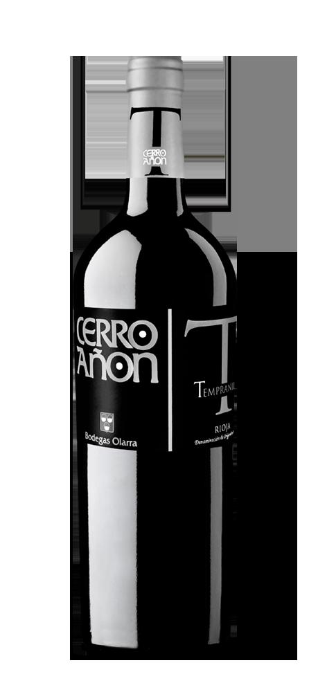 Silueta de la botella de Cerro Añón Tempranillo de Bodegas Olarra
