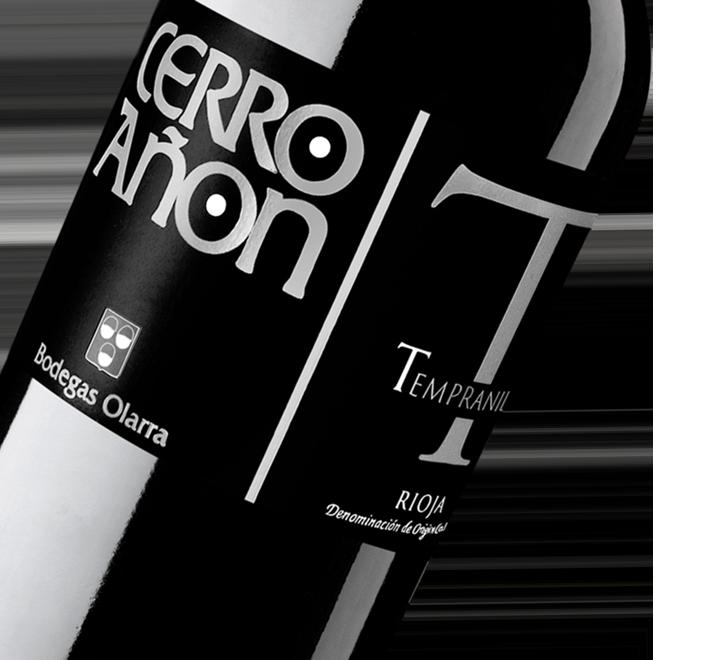 Silueta de la botella de Vino Tinto Cerro Añón Tempranillo de Bodegas Olarra