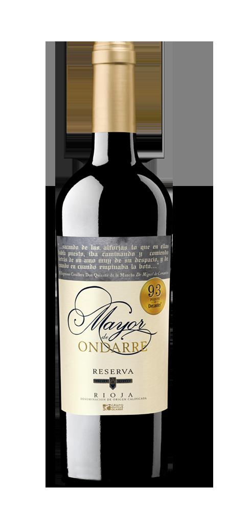 Silueta de la botella de Mayor de Ondarre de Bodegas Ondarre