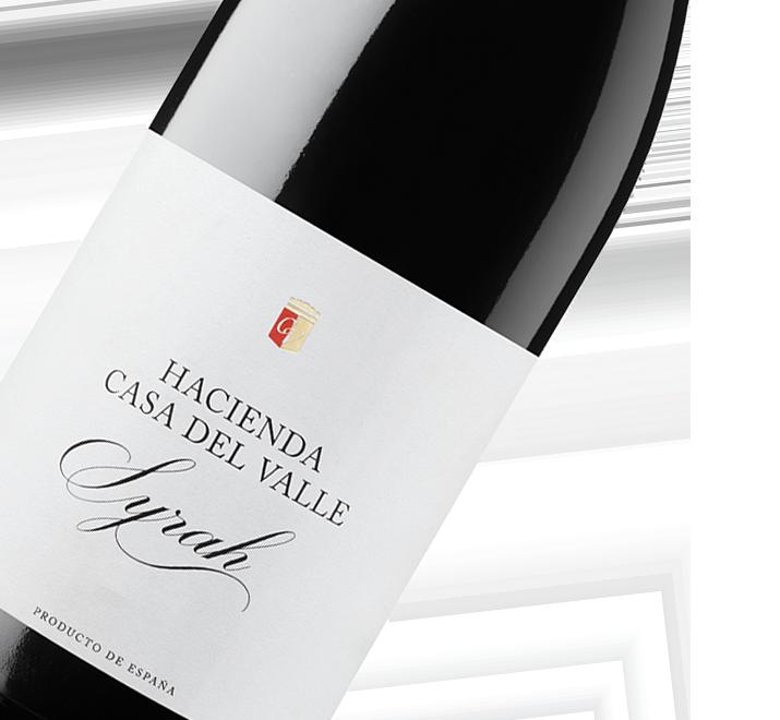 Etiqueta de Botella de Syrah de Bodegas y Viñedos Casa del Valle