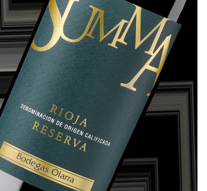 Silueta de botella Summa Reserva de Bodegas Olarra