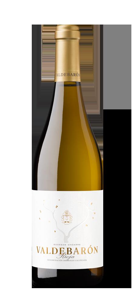 Silueta de la botella de Valdebarón Blanco de Bodegas Ondarre