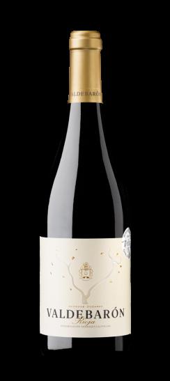 Silueta de la botella de Valdebarón Tinto de Bodegas Ondarre