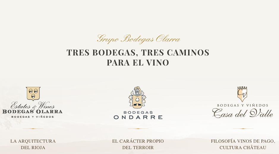 Grupo Bodegas Olarra es la suma de tres inquietudes en torno al Vino