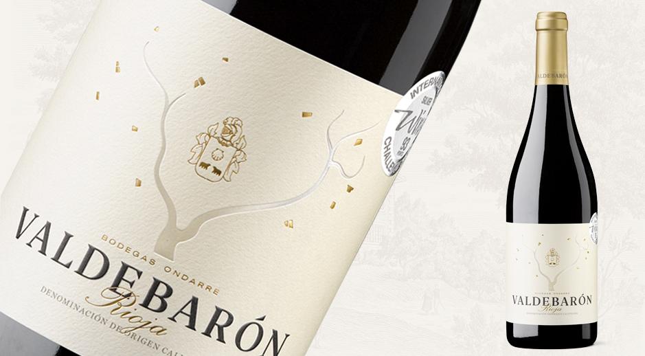 Detalle de la Botella Valdebarón de Bodegas Ondarre en la DOCa Rioja
