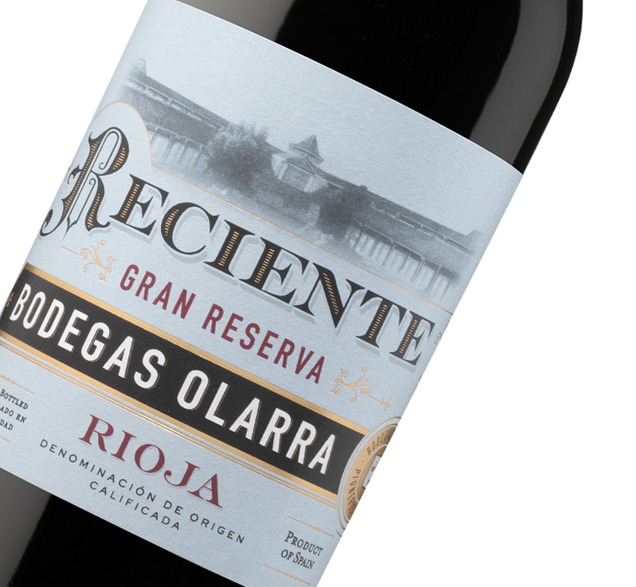 Etiqueta de Reciente Gran Reserva DOCa Rioja