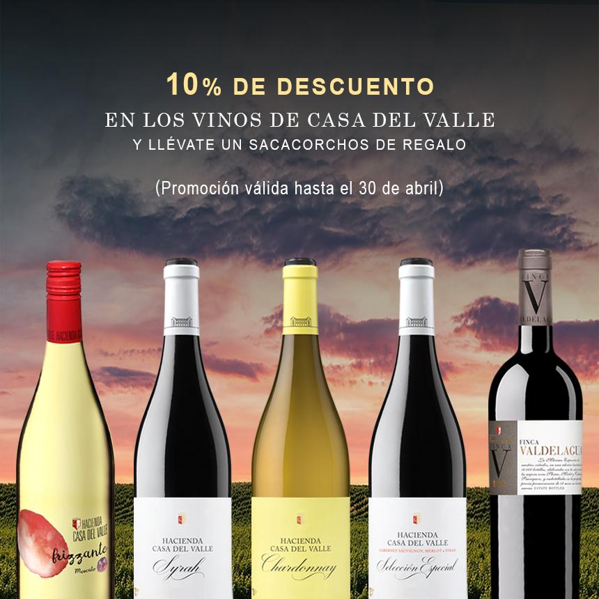 Abril, mes de los vinos de Hacienda Casa del Valle